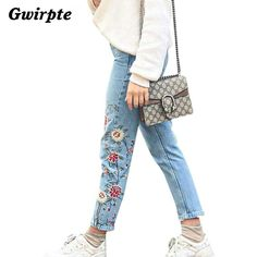 Here is a sneak peak at what's new and fresh at Costbuys today Flower embroidery... see for yourself and don't ever doubt again http://www.costbuys.com/products/flower-embroidery-jeans-female-light-blue-casual-pants-capris-2016-autumn-winter-pockets-straight-trousers-women-bottom-feminino?utm_campaign=social_autopilot&utm_source=pin&utm_medium=pin