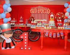Party Setup + Display from a Circus Birthday Party via Kara's Party Ideas - KarasPartyIdeas.com (7)