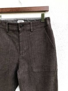 29e4fedc10f Issey Miyake Plantation By Issey Miyake Cropped Trousers Pants Brown Cotton  Military Design Size 28 -