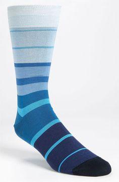 Bugatchi Uomo Stripe Socks (3 for $49.50) available at #Nordstrom