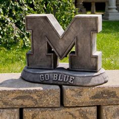 College sports fans, the Henri Studio Stone Mascots - NCAA - Vintage is so for you. These officially licensed mascots, available for many of. U Of M Football, Michigan Wolverines Football, College Football, Alabama Football, American Football, Michigan Go Blue, Michigan Gear, University Of Michigan, Silver Surfer