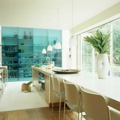 teal glass sliding doors