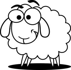 outline sheep clip art vector clip art online royalty free rh pinterest com free sheep clipart images cute sheep clipart free