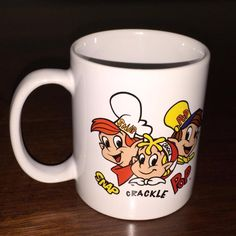 Snap Crackle Pop Coffee Cup 2001 Kellogg's Rice Krispies Cereal Ceramic Mug