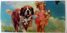 "Frederick Sands Brunner - ""Playmates"" Saint Bernard"