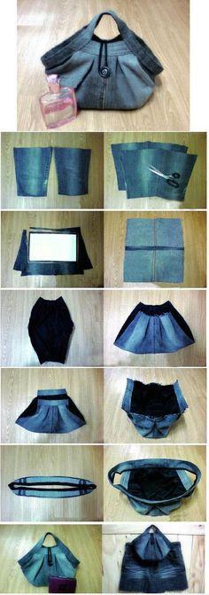 Beautiful Jean Bag   DIY & Crafts Tutorials