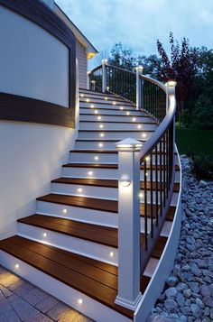 Stair lighting is both effective and a great safety feature