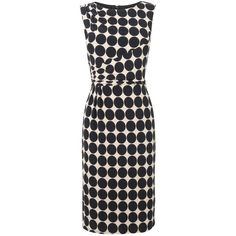 A fun and feminine fitted dress from Phase Eight in a bold polka dot print, featuring ruching to the shoulders and waist, a chic boat neckline and a slim, tail…