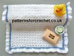 Free crochet pattern frilled washcloth usa