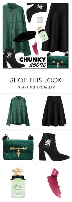 """""""#chunky boots"""" by svijetlana ❤ liked on Polyvore featuring Dolce&Gabbana and By Terry"""