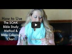 How to use the SOAK Bible Study Method and Bible Coloring Chart - YouTube