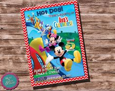 """Mickey Mouse clubhouse customize-able birthday invitation is the perfect way to get the whole neighborhood, and friends together and celebrate that awesome child of yours birthday!    If your looking for something really special then you have met the end of your long search. """"MICKEY MOUSE CLUBHOUSE"""" """"BIRTHDAY INVITATION"""" Mickey Mouse Invite micky, mouse, clubhouse, customize, invitation, add your name, change color,.."""