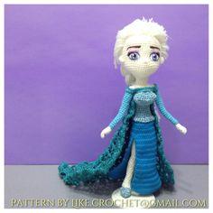 Frozen Ice Gown Elsa Crocheted Amigurumi patterns by LikeCrochet, $78.00