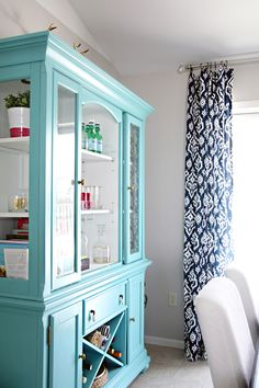 aqua painted furniture thinking something like this as a pantry...