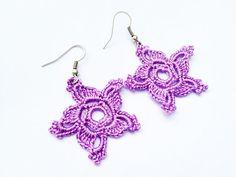 PDF Tutorial Crochet Pattern...Dangle Earrings -2 #handmade #tutorialpattern