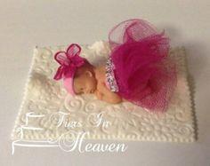 Niña TUTU BABY SHOWER pastel Topper de por BabyCakesByJennifer