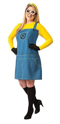 b76f8d5740 Halloween Costumes Makeup -- Rubies Womens Despicable Me 2 Female Minion  Costume Multicolor Plus
