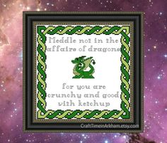 Dragon Cross Stitch Pattern, Funny Embroidery - PDF, Instant Download