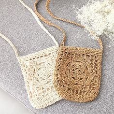 Best value Vintage Crochet Bag – Great deals on Vintage Crochet Bag from global Vintage Crochet Bag sellers Cute Crochet, Vintage Crochet, Knit Crochet, Crotchet Bags, Knitted Bags, Simple Bags, Crochet Purses, Crochet Animals, Hippie Chic