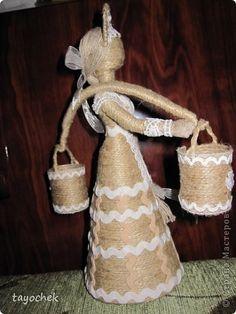 Куклы Оберег 8 марта День рождения Моделирование конструирование Шитьё Подарок для любимой Клей Кружево Ткань Шпагат фото 2