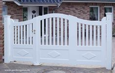 painted wood driveway gate - Google Search
