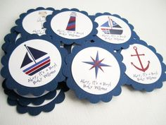 These Nautical Tags are so versatile in use. You can use them for any Nautical or Sea Birthday, Baby Shower and Wedding Party, to name a few.  My past client also uses these as embellishment for her N