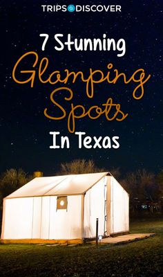 6 Glamping Spots in Texas For a Little Bit of Luxury on Your Next Outdoor Adventure You've Never Seen Anything Like These 7 Stunning Glamping Spots in Texas Texas Getaways, Texas Vacations, Texas Roadtrip, Texas Travel, Travel Usa, Vacation Spots In Texas, Travel Tips, Family Vacations, Cruise Vacation