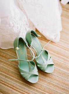 mint wedding shoes / http://www.deerpearlflowers.com/mint-wedding-color-ideas/