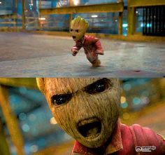 source.gif (500×470) Baby Groot from Guardians of the Galaxy trailer