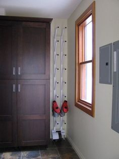Williams Boot Dryer for small spaces. More Williams Boot Dryer for small spaces. Boot Storage, Locker Storage, Basement Storage, Snowboard Bedroom, Mountain House Decor, Boot Dryer, Small Space Storage, Condo, Mudroom