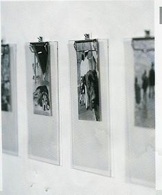 Photographs on clipboards ... easy, affordable, effective ...