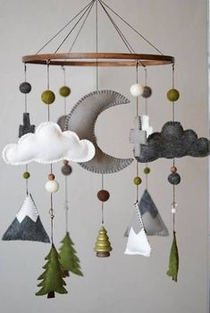 Woodland Nursery Mobile from HELLOxSUGAR