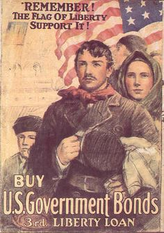 American poster: Remember the Flag of Liberty. Buy Government Bonds