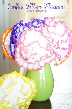 Coffee Filter Flowers kids craft