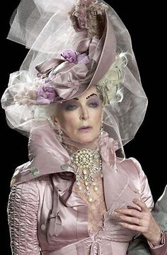 John Galliano for Christian Dior/ My favorite model I want to grow old like thiz...