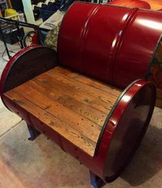 Custom made oil drum furniture designed for northstar for Sofa exterior wallapop