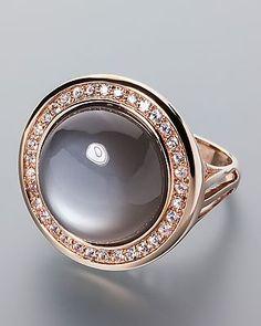 Goldring mit Mondstein und Saphir #schmuck #jewellery #sognidoro #sogni #d´oro #ring