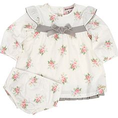 JUICY COUTURE Floral dress and briefs set 0-9 months (White multi