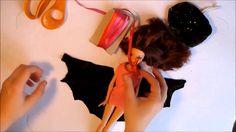 Fashion Doll Clothes Tutorial: Vampire Halloween costume part 1 how to s...
