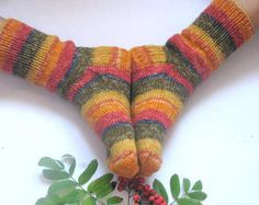 hand knitted mens wool socks, Wonderful Christmas gift for anybody