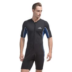 SBART Short Sleeve Neoprene Wetsuit For Swimming Spearfishing Wetsuits One piece Triathlon Scuba Diving Surfing Wetsuits