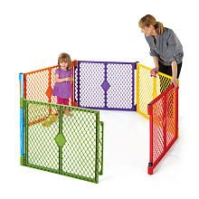 colorful indoor/outdoor play yard to keep baby safe $79.99