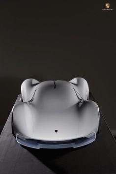 Porsche Electric Le Mans 2035 Prototype top view front angle