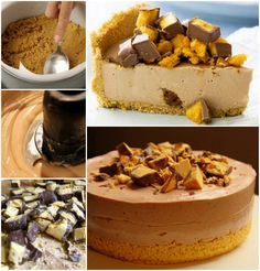 Chocolate honeycomb cheesecake ♥ Ingredients plain butter melted, gelatine, quarter cup Milk chocolate chopped, cream cheese, half cup of castor thickened cream and honeycomb. No baking. Leave in fridge No Bake Desserts, Easy Desserts, Dessert Recipes, Dessert Ideas, Digestive Biscuits, Australian Food, Different Cakes, Yummy Cupcakes, Delicious Chocolate