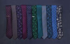 Dark colors that are perfect for winter. Ties for $19 at www.TheTieBar.com