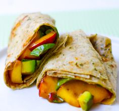 That's a Wrap! Peach Basil Avocado Balsamic. Healthy. Happy. Life.