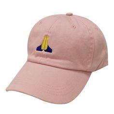 ea550ae0f3d Capsule Design Pray Emoji Cotton Baseball Cap Pink