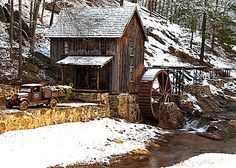 Gresham's Mill - Canton, GA Christmas 2010 by Don Morrow