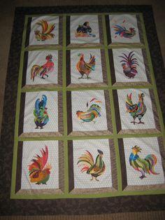 Batiks rooster quilt