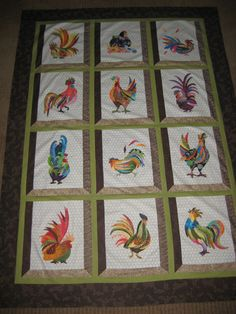 Free Chicken Applique Patterns | HAD ONLY BEEN QUILTING FOR ABOUT ... : rooster quilt pattern - Adamdwight.com